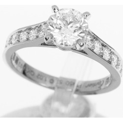 Cartier Cartier sled tail collection 1895 diamond (D1.02ct D-VS1-Ex) ring Pt950 platinum Japan size approximately 11.5 #51.5 GIA appraisal ring Lady's 31140303