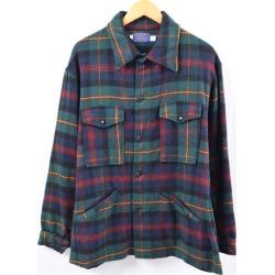 Men L vintage /wbi5191 in the 70s made in pen Dalton PENDLETON wool shirt jacket USA