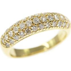 Star jewelry 37P, ハーフエタニティ diamond ring, K18YG/750-3.8g/0.60ct/8 /#48/STAR JEWELRY ■ 287229