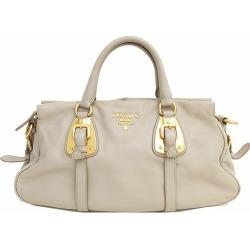 PRADA (Prada) tote bag beige leather netshop