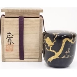 Jujube [tea ceremony / tea set / tea service set / curio / tea / jujube] in the original Shunzo lacquering plum lacquer work
