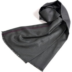 AGNONA アニオナマフラーストールシルク 100% men's lady's spring and summer winter 3 season dark gray Bordeaux herringbone gift / Italy brand man and woman combined use lapping