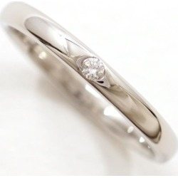 Star jewelry PT950 ring 5 diamond 0.01 nature stone used jewelry ★★ giftwrapping for free