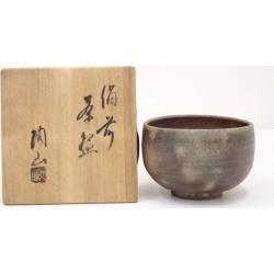 備前焼森陶山造茶碗 [Japanese dishes / Matcha porcelain bowl / Matcha bowl / tea ceremony / tea set / tea service set / curio / tea]