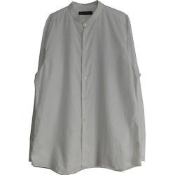 ISSEY MIYAKE MEN 2017AW stand collar shirt white size: 4 (Issey Miyake)