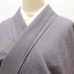 L gray 色系小花菱文様特品 ★★★★ mm1930b slightly plump recycling fine pattern unlined clothes spring clothing recycling unlined clothes kimono pure silk fabrics newly made recycling 着物女性裄 68cm L dress length 161cm L