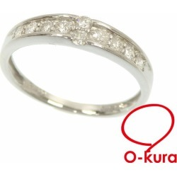 Diamond ring Lady's Pt900 13 0.30ct 2.6 g platinum diagram ring deep-discount pawnshop exemption from taxation A6023364