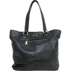 PRADA (Prada) tote bag black black leather netshop