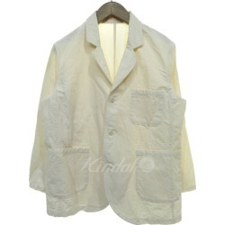 nest Robe cotton linen strong twist tailored jacket ivory size: Free (nest robe)