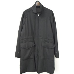 ALLEGE アレッジ 17AW stand collar batting coat men black 3