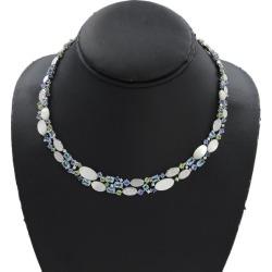 Tasaki multi-stone shell diamond necklace