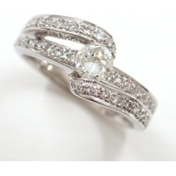PT900 platinum ring 12 diamond 0.31 0.36 appraisal used jewelry ★★ giftwrapping for free