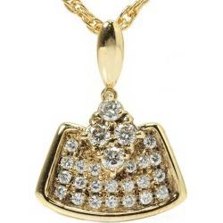 Paula POLA pendant head 0.42ct diamond K18 64817