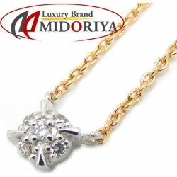 Vendome Aoyama VENDOME AOYAMA diamond necklace K18WGxYG combination color pendant /091230