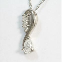 Diamond 0.39ct necklace platinum (Pt850) jewelry netshop in total