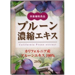 Prune concentration extract