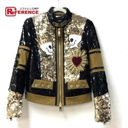 DOLCE & GABBANA dolce and Gabbana jacket jacket jacket outer spangles skeleton heart decoration blouson polyester / cotton / spandex gold men