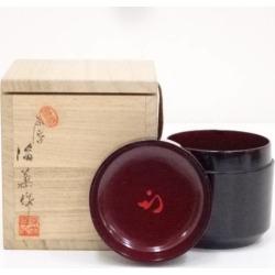 高松産菊絵雪吹棗 (十二代尋牛斎書付) [tea ceremony / tea set / tea service set / curio / tea / jujube]
