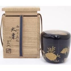 鈴木光入造漆塗海松貝大棗 [tea ceremony / tea set / tea service set / curio / tea / jujube]