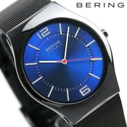 Bering men watch ultra slim ceramic 39mm 32,039-447 BERING blue X black clock