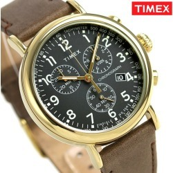 Timex standard men watch TW2T20900 TIMEX clock gray X brown