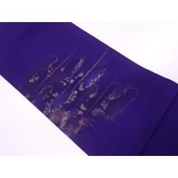 Thick silk goods tree design Nagoya style sash sect sou