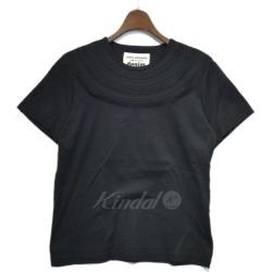 JUNYA WATANABE COMME des GARCONS 2016SS crew neck design T-shirt black size: S (ジュンヤワタナベコムデギャルソン)