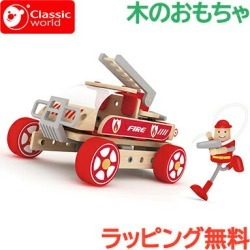 Toy cognitive education toy assembling of \ point 16 times / vehicle toy classical music world classic world builder set fire truck rider Monoki