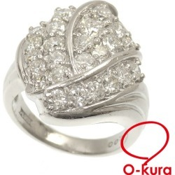 Diamond ring Lady's Pt900 10 2.00ct 10.9 g platinum diagram ring deep-discount pawnshop exemption from taxation A2171427