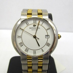 RAYMOND WEIL Raymond Weil watch analog quartz date combination silver gold clockface white 9170 stainless steel business casual men Higashiosaka store 319727 RY1225