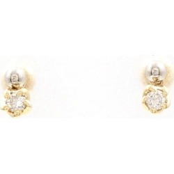 PT850 platinum K18YG pierced earrings diamond used jewelry ★★ giftwrapping for free