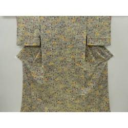 Crepe place Gentiana scabra design fine pattern kimono sect sou