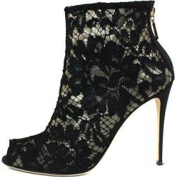 Dolce & Gabbana /DOLCE & GABBANA back zip race bootie (37/ black) bb15#rinkan*A