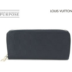 Louis Vuitton LOUIS VUITTON ダミエアンフィニジッピーウォレットヴェルティカルラウンドファスナー long wallet leather astral N63324