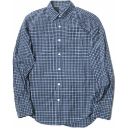 Stamp shirt 211-SH03 peg 36 navy long sleeves check shirt tops made in N.HOOLYWOOD COMPILE LINE N Hollywood compilation line Japan