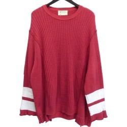 77circa paint processing remake knit red (ナナナナサーカ)