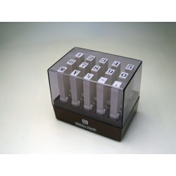 Endless stamp number set oiliness [2] Ming-style of penmanship body size-resistant: 84x58x70 effective face of a seal size: One character 6.0*4.3mm [cancellation, change, returned goods impossibility]