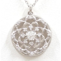 Vendome Aoyama PT950 PT850 necklace diamond 0.081 0.06 used jewelry ★★ giftwrapping for free
