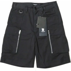 Cotton twill cargo shorts UCW4520 1 black shorts zip military bottoms made in UNDERCOVER under cover 19SS Japan