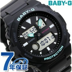 Baby-G Lady's watch BAX-100 dual thyme tide graph BAX-100-1ADR Casio baby G G ride black found on Bargain Bro India from Rakuten Global for $88.00