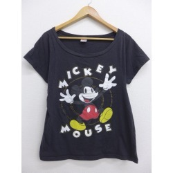 Spring clothes summer clothing summer clothes Disney DISNEY Mickey MICKEY MOUSE lam black black in the spring and summer an old clothes Lady's T-shirt for spring I show cute casual lady's fashion fashion