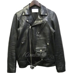 "BeautifulPeople ""vintage leather riders jacket"" lamb leather double riders jacket black size: S (beautiful people)"