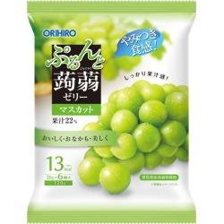 ORIHIRO ぷるんと konjac jelly new pouch Muscat 20 g *6 konjac jelly konjac agar cake konjac agar food