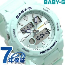 Baby-G Lady's watch BAX-100 dual thyme tide graph BAX-100-3ADR Casio baby G G ride mint green found on Bargain Bro India from Rakuten Global for $88.00