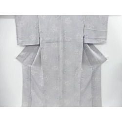 It is crest of a Chinese flower pattern design unlined clothes fine pattern kimono sect sou in a crepe place classic pattern