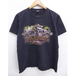 Old clothes Harley-Davidson Harley Davidson T-shirt motorcycle Kuwait black black large size used men