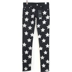 SAINT LAURENT PARIS Saint-Laurent Paris 15AW star print stretch skinny pants Lady's black 25