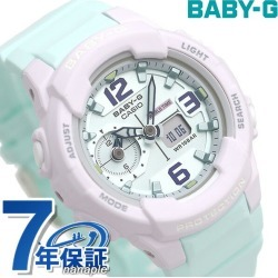 Baby-G Lady's watch BGA-230 foreign countries model dual thyme BGA-230PC-6BDR Casio baby G mint green found on Bargain Bro India from Rakuten Global for $100.00