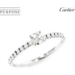 Cartier Cartier ethane cell diamond 0.20ct E/VVS1/VG #45 ring Pt950 platinum diagram ring
