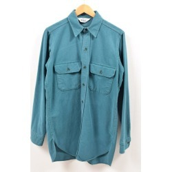 Men M vintage /wbe7249 in the 70s made in Ulrich WOOLRICH long sleeves chamois shirt USA